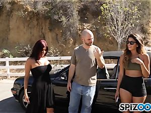 cock craving pick up with Sophia Leone and Gina Valentina