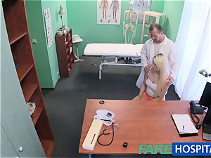 FakeHospital doctor helps blond get a raw cooter