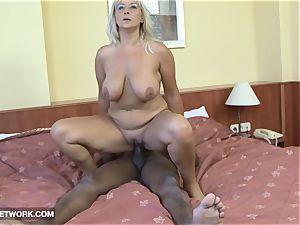 ample mature really super-steamy longing black trouser snake in her fuckbox