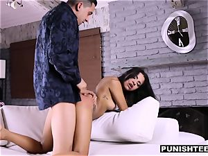 cute Latina gets a harsh porn audition