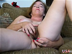 USAwives unshaved grandmother Pusssy pummeled With fuckfest fucktoy