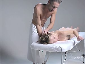 Deep erotic massage for the pale fragile Alecia