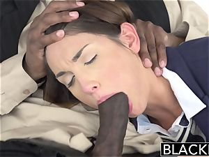 youthful nanny August Ames gets smashed by ebony sir