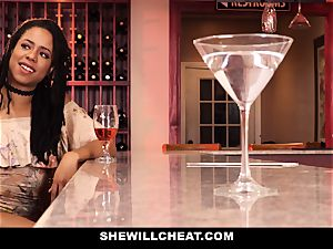 SheWillCheat - cheating wifey romps bbc in bathroom