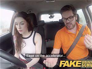 fake Driving school USA stunner Anna De Ville