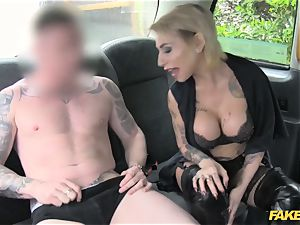 fake taxi diminutive lady in super-sexy undergarments
