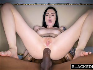 BLACKEDRAW Canadian gf takes large big black cock in her caboose