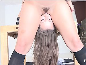 wild nymphs tonguing some donk