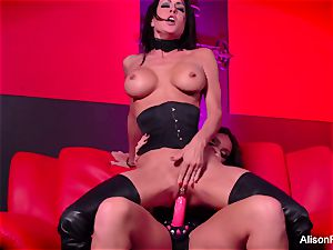 red room and sizzling strap-on act
