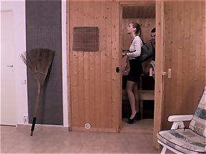 Relaxxxed - luxurious Czech teenage pummels at the sauna