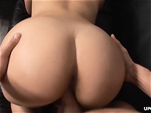 Valerie providing her bum up as she rails in a cowgirl