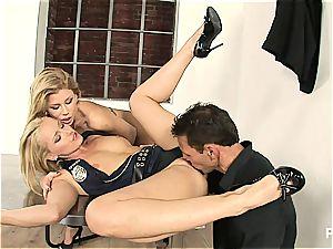 Interrogation gone 3some