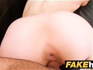 faux Agent internal cumshot for fresh sandy-haired american model