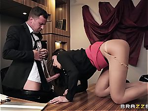 pounding scorching Ariana's arse on the office desk