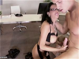 mummy dick throating in the office