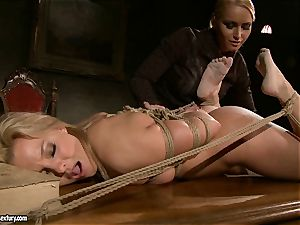 Kathia Nobili like to pinched down her slave with fuck stick