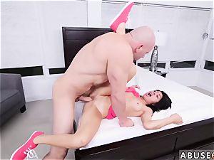 ultra-kinky america hard-core Kira Adams gets a large facial cumshot after rough intercourse
