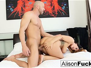 curvy Alison takes some fine weenie in her bedroom