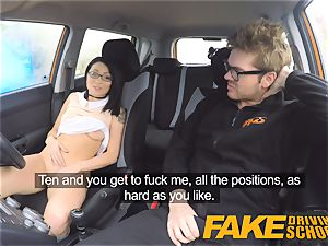 fake Driving school wild rail for diminutive brit chinese