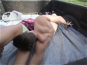Public Penetrations Pt four Adria Rae takes a risk with this plowing