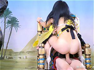 big salami jammed into the tiny minge of Egyptian babe Rina Ellis