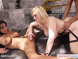 bisexous honies Siri and Anissa Kate sharing a large boner