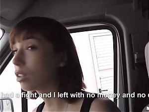 Tina super-fucking-hot inhales a strangers manstick in his car