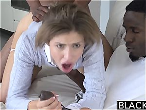 BLACKED nubile 3some with two Monster knobs