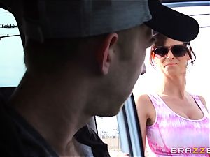 mind-blowing stepmom Syren Demer penetrates her stepsons yam-sized man meat