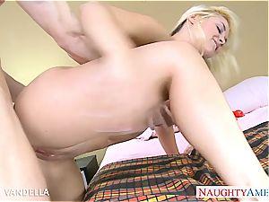 buxomy blonde Sarah Vandella smashing