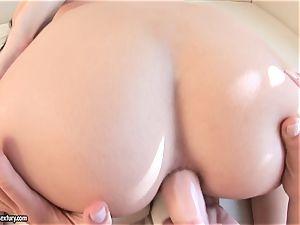 Victoria Tiffani ram rump butt-plug in her friend's arse