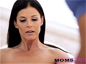 Moms instruct orgy - sexy mom interchanges jism with daughter-in-law