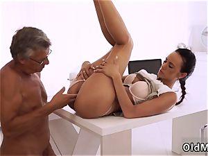 senior granny youthful and mummy professor feet eventually she s got her boss man rod