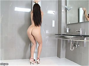 awesome Aletta Ocean adds some shine to her figure