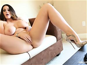 massive titted beauty Alison Tyler plays with her cunt
