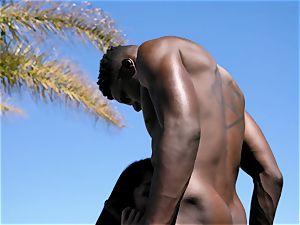 multiracial penetrate Near The Pool