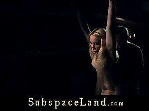 slave damsel blondie pleasured and penalized in conformity