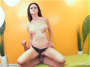 huge-titted Kendall gets her cunny banged by Toni Ribas