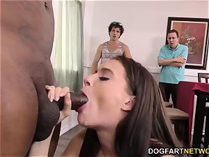 cheating bro and father observe Lana Rhoades takes bbc