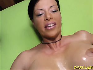big-chested german cougar gets lubed and fucked