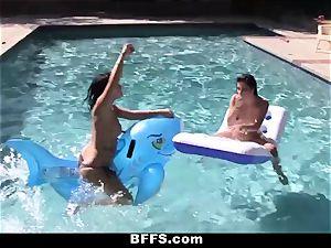 BFFS - lezzy fuck-a-thon Pool soiree!
