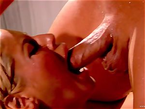 Bridgette B takes this hard shaft deep in her raw slot