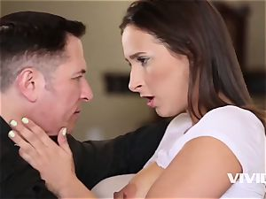 Ashley gets caught all raw and super-naughty by her step-dad