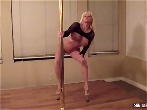 Nikita gives you a intimate softcore dance & a point of view blowjob
