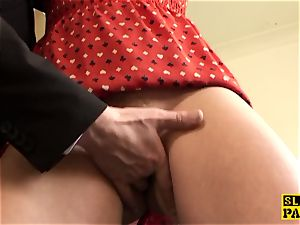 Fingerfucked english super-bitch dickriding maledom