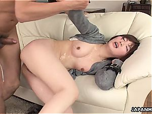 cheating japanese wifey boinked in a humid session