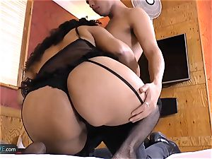 AgedLovE super hot Mature Latina Sharon gonzo drill