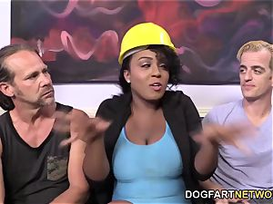 Layton Benton Gets gang-fucked By Her workers