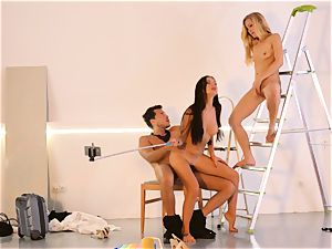 LOS CONSOLADORES - fantastic Sasha Rose in molten three-way