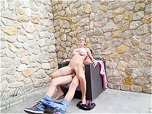 insatiable Eurobabe will rail wood anywhere